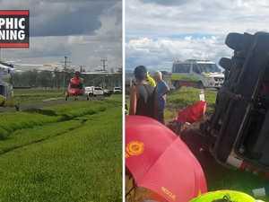 Helper captures footage from scene of Glenore Grove mini bus crash