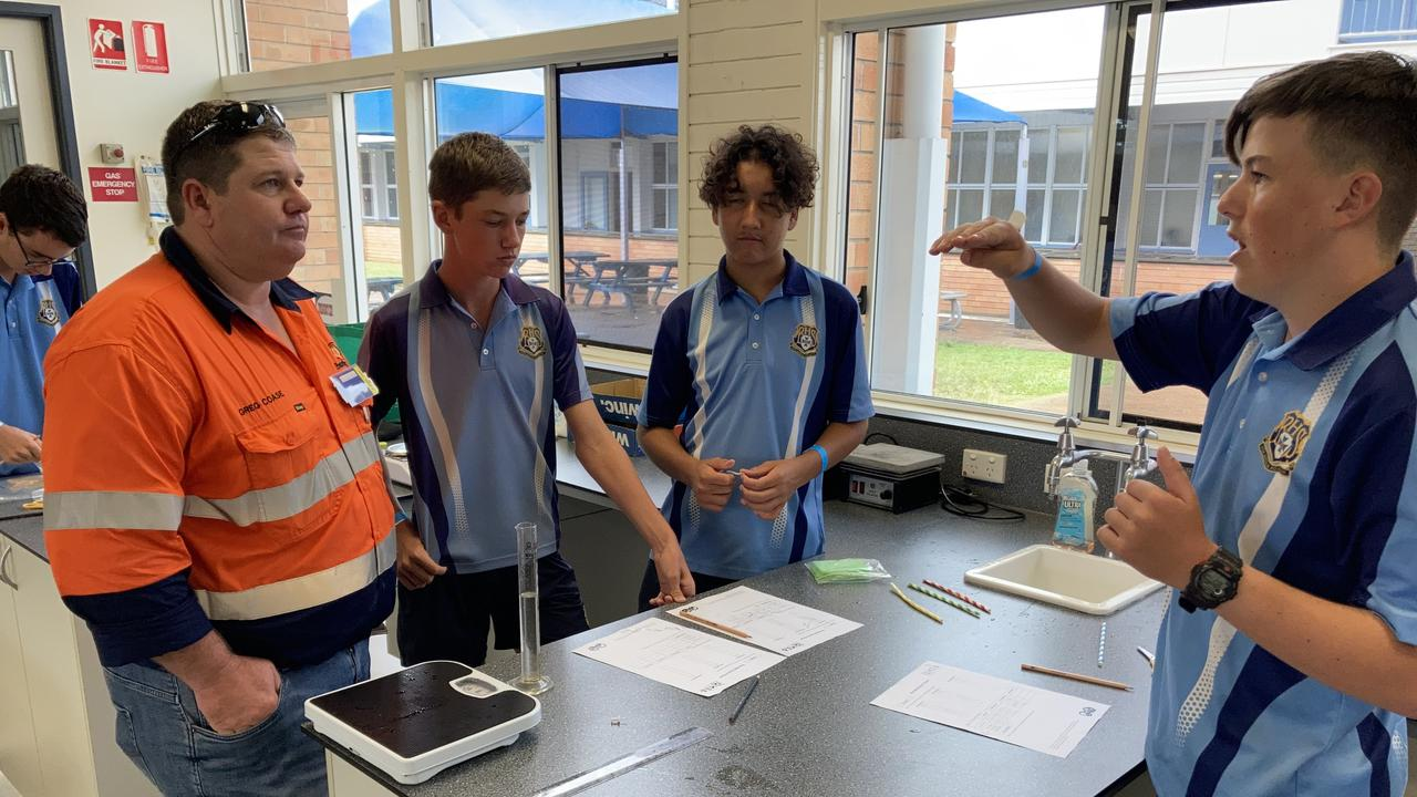 Students from Bundaberg State High School recently participated in the Queensland Minerals and Education Academy (QMEA)'s Beakers.Bots.Build workshop with Evolution Mining.
