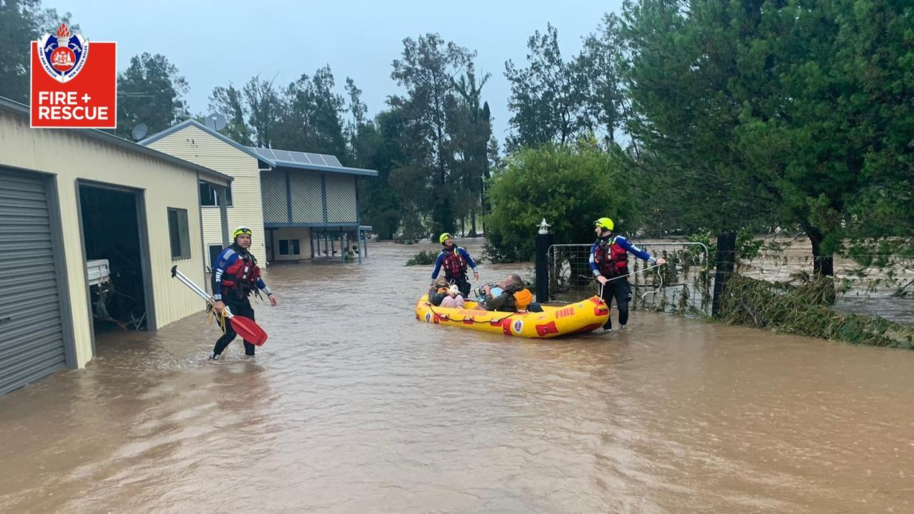 The NSW coast has been pounded with storms and torrential rain over the weekend. Picture: Fire and Rescue NSW