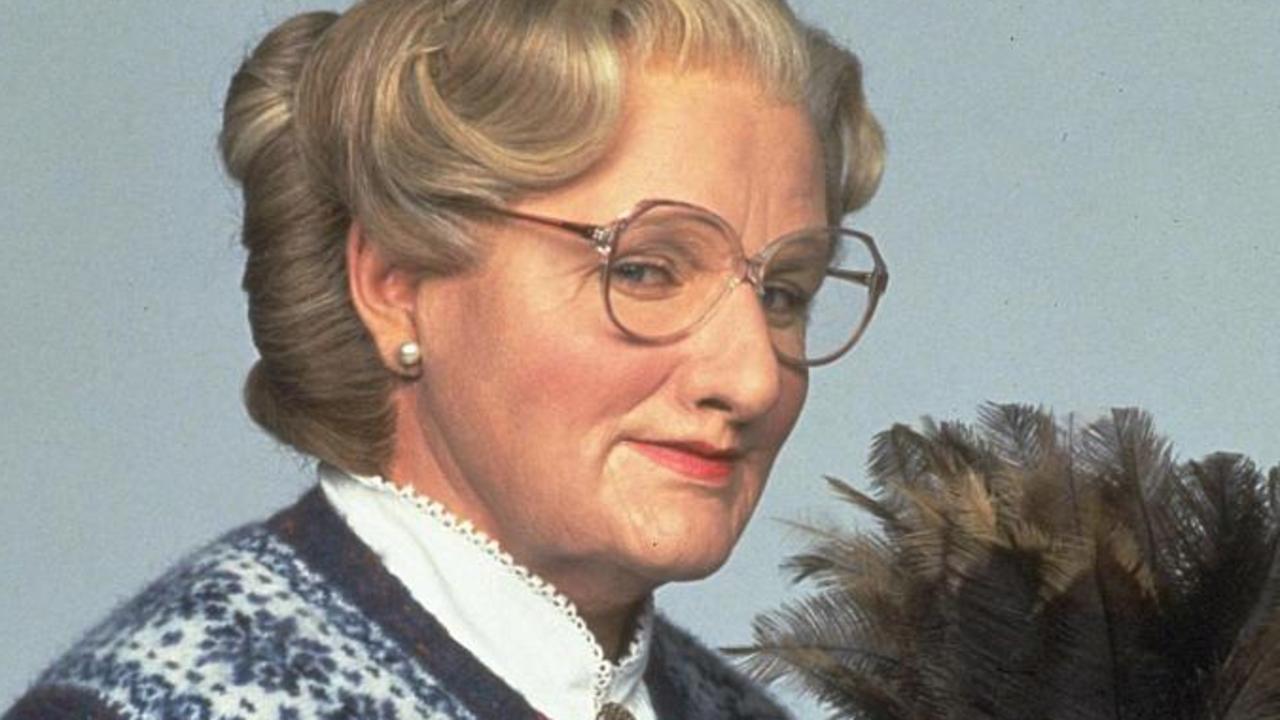 Robin Williams as Mrs Doubtfire.