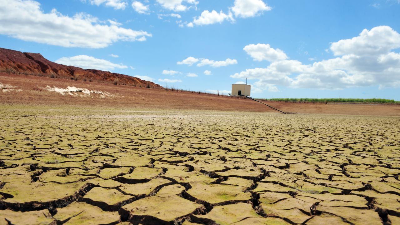 An empty dam in Queensland.