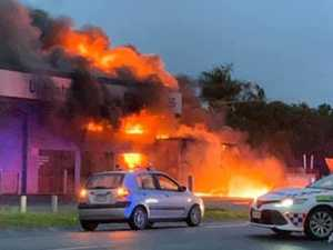 Coast motorbike shop destroyed by fire