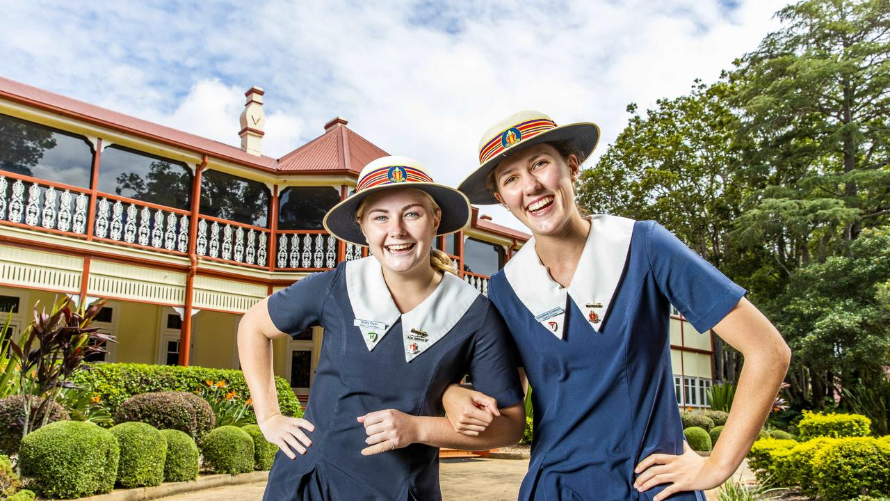 Ruby Dyer and Josephine Crothers at The Glennie School, Toowoomba. Picture: Richard Walker