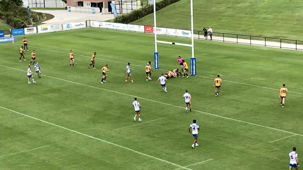 Sunshine Coast Falcons have fallen to the Northern Pride 28 to 12 in the opening round of the Intrust Super Cup.