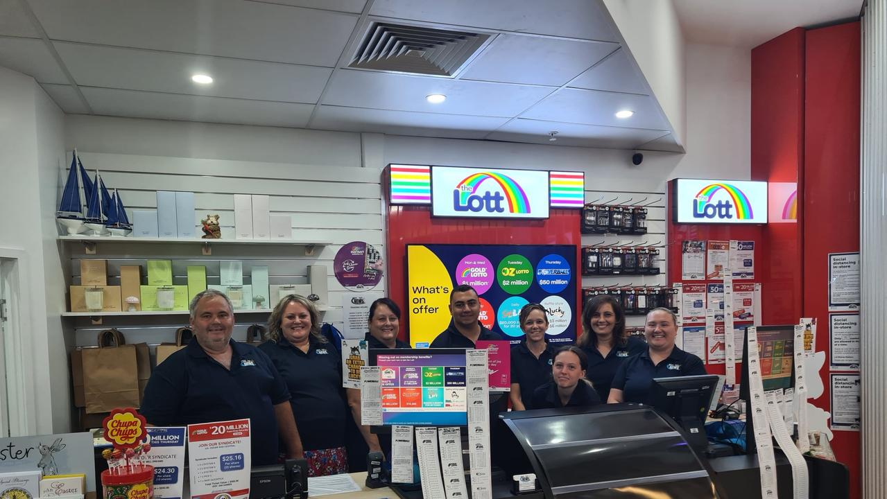 The team at the new look Yeppoon Central Lotto and News.