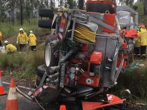 Dramatic photos show aftermath of RFS truck rollover