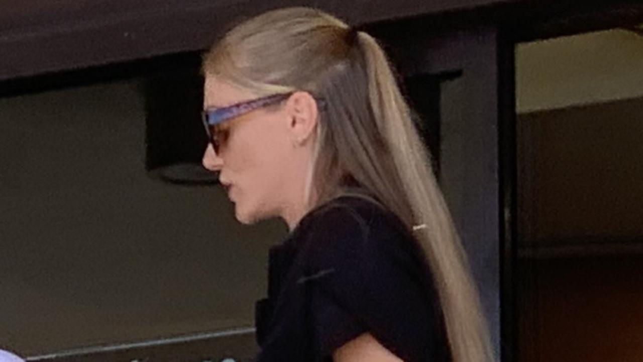 Kimberley Maree Tooz (black dress) pleaded guilty to eight counts of stealing by clerks or servants in her role as a gaming attendant at the Northern Beaches Bowls Club.