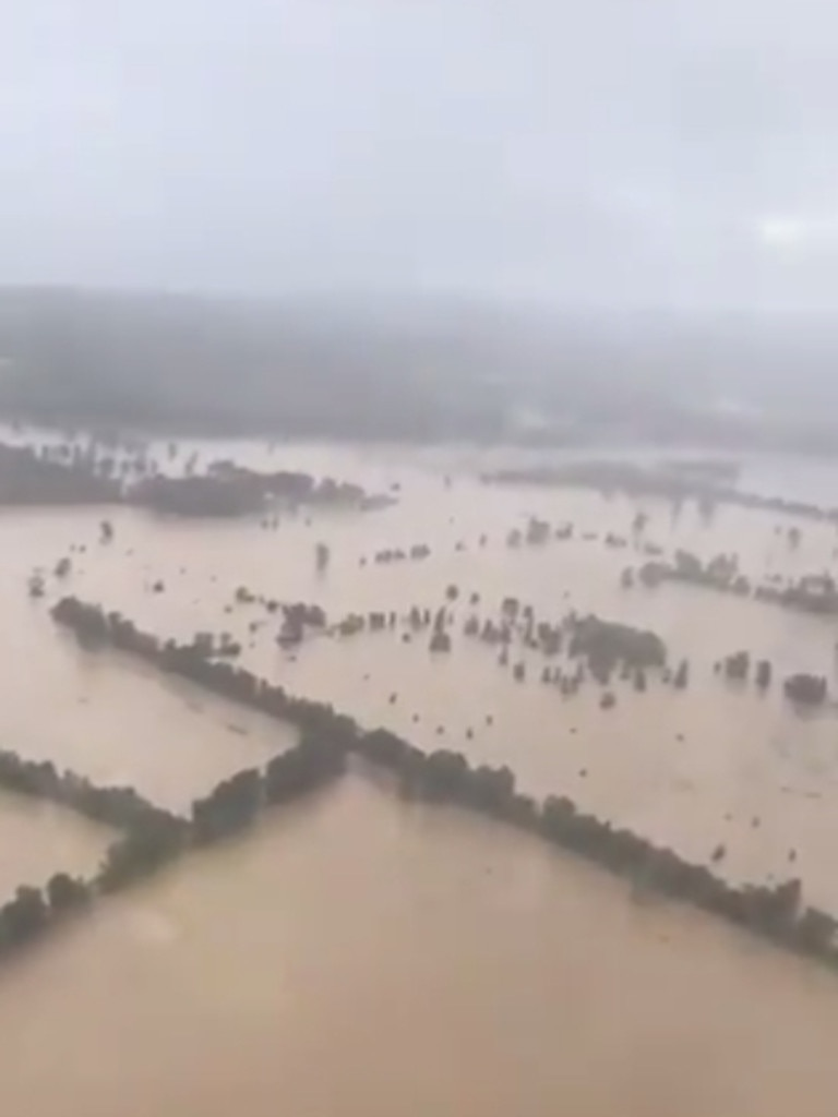 Flood water seen in Taree. Picture: Twitter