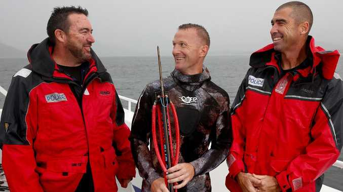 'The fear of God in his eyes': Spearfisher's shark escape