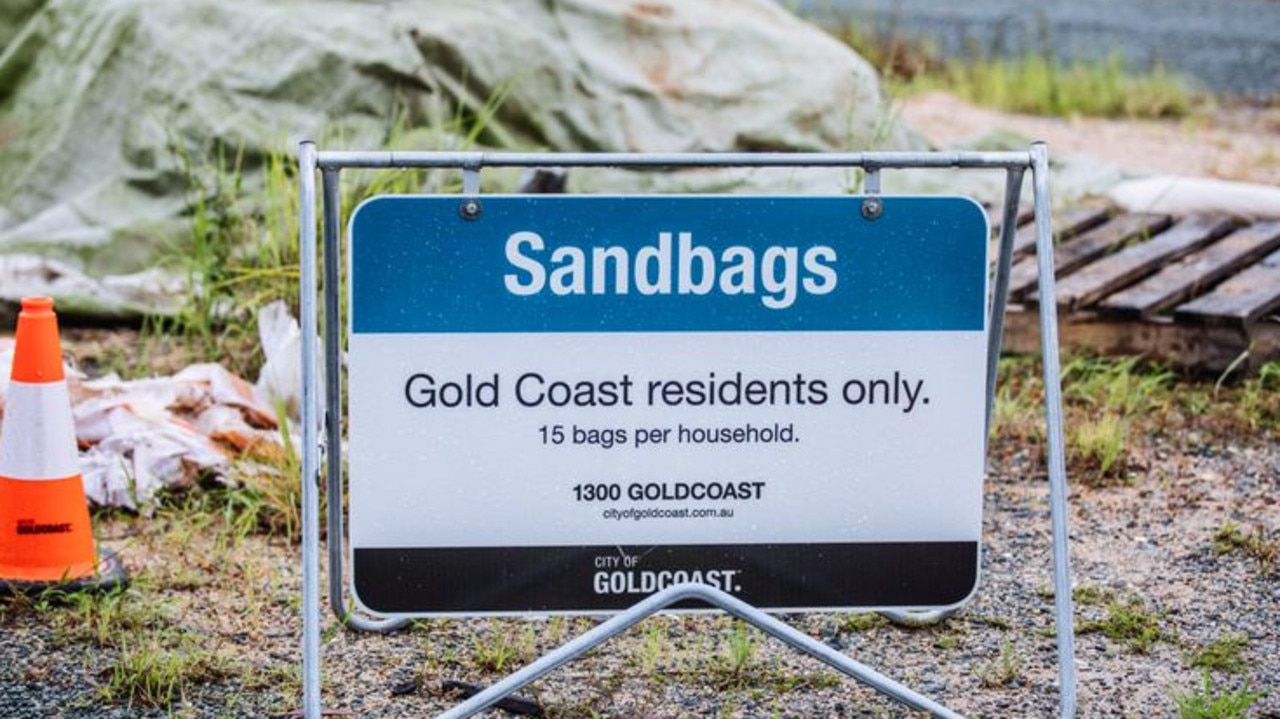 Heavy rainfall is predicted across the Gold Coast, with sandbagging stations open across the city