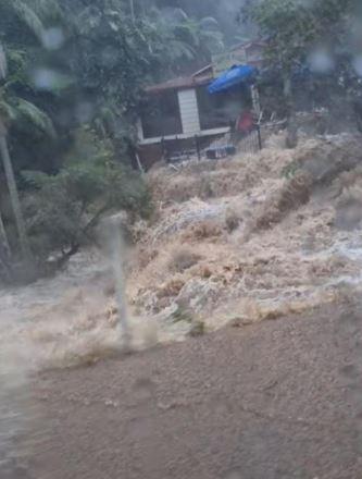 Raging torrents of water at Mt Tamborine.