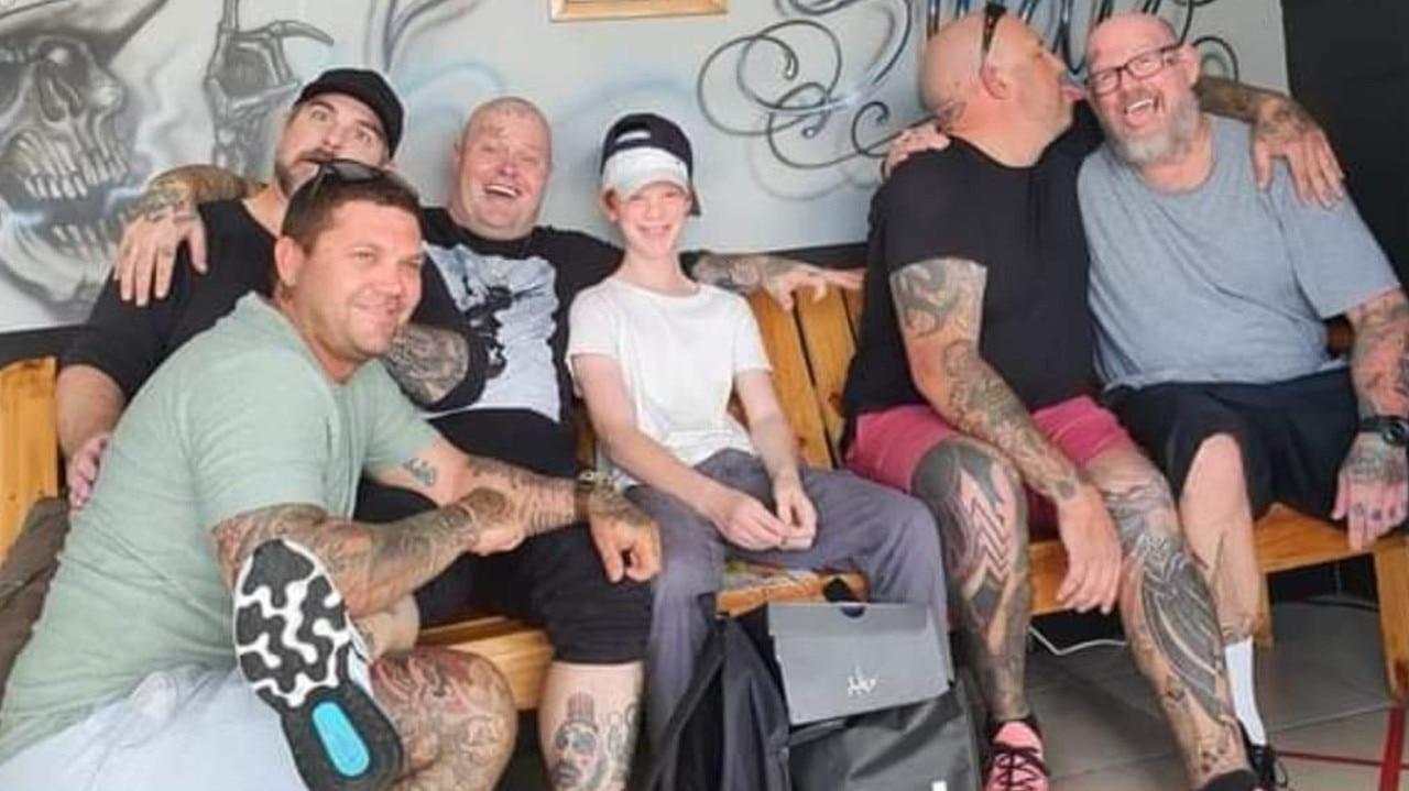 Rockhampton Tattoo Studio workers with Jacob.