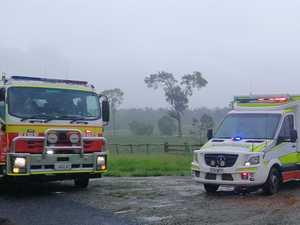 Man hurt after vehicle crashes down embankment