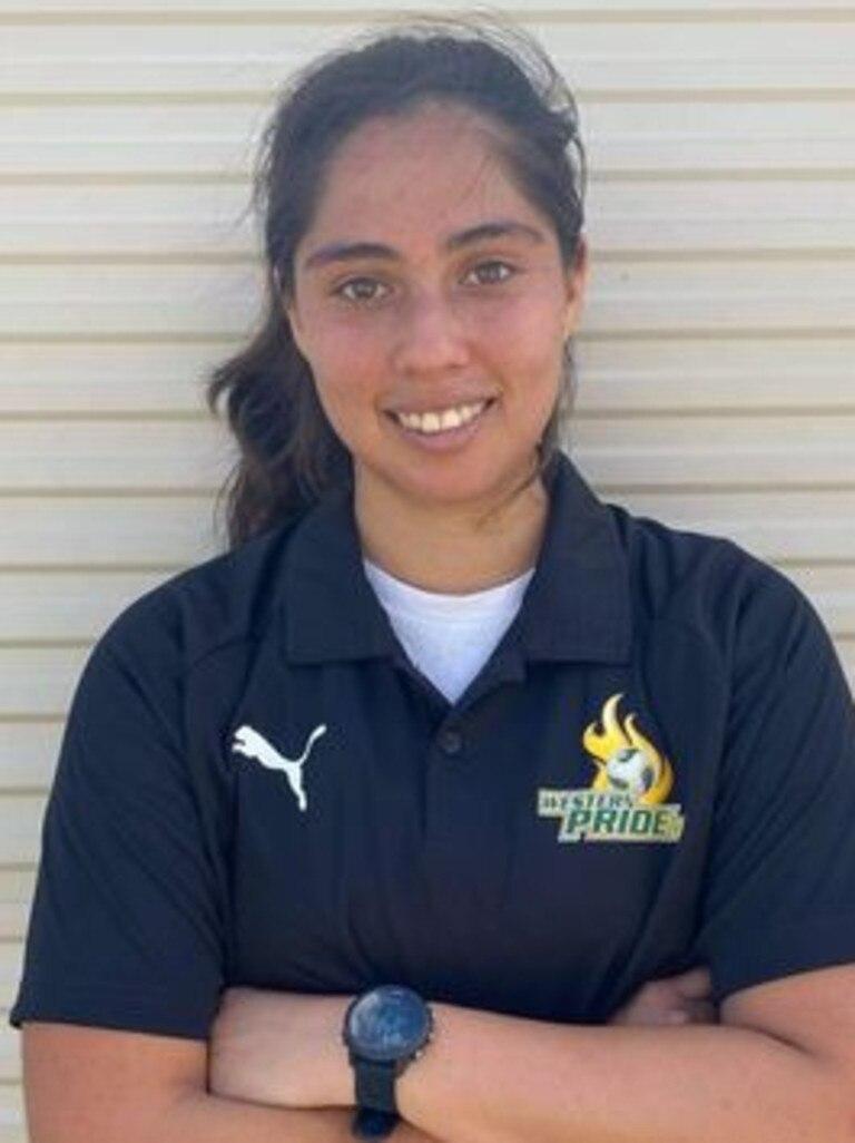 Western Pride footballer Gladys Esquivel Villanueva ws among the weekend goal scorers.