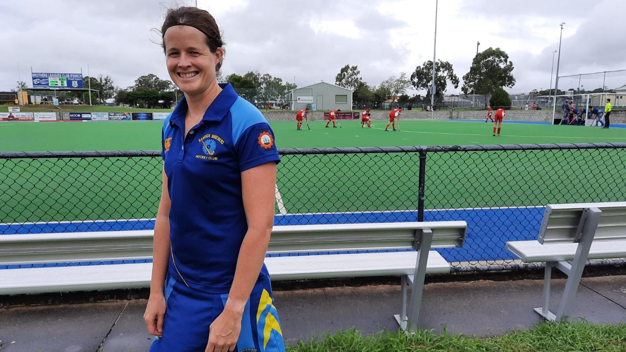 Hancocks captain/coach Sara Rogers received praise for her ongoing work also coaching the club's men's A-Grade side. Picture: David Lems