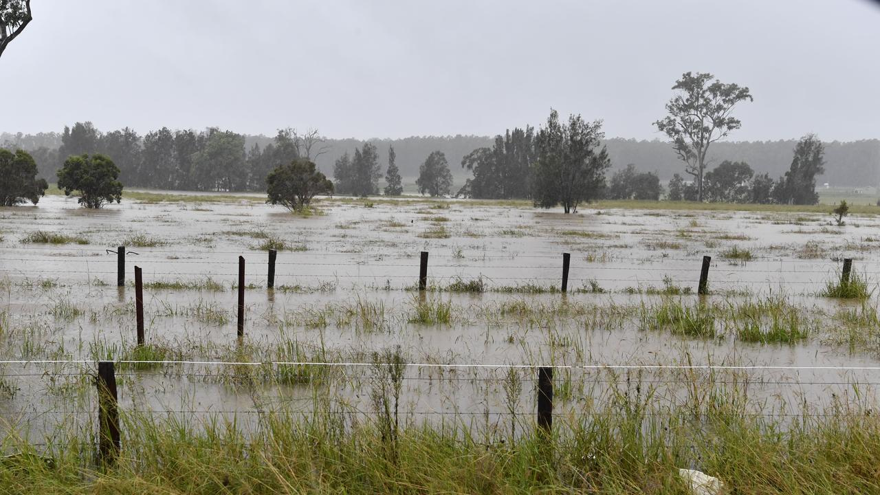 Water spilling from Alumy Creek near South Grafton closed the road earlier this morning.