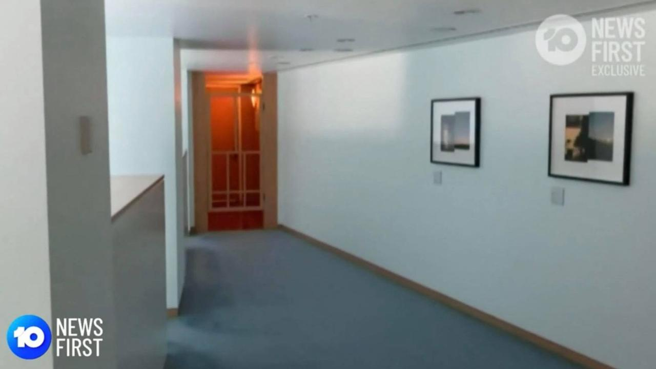 The meditation and prayer room, allegedly used by staffers for sex. Picture: 10 News
