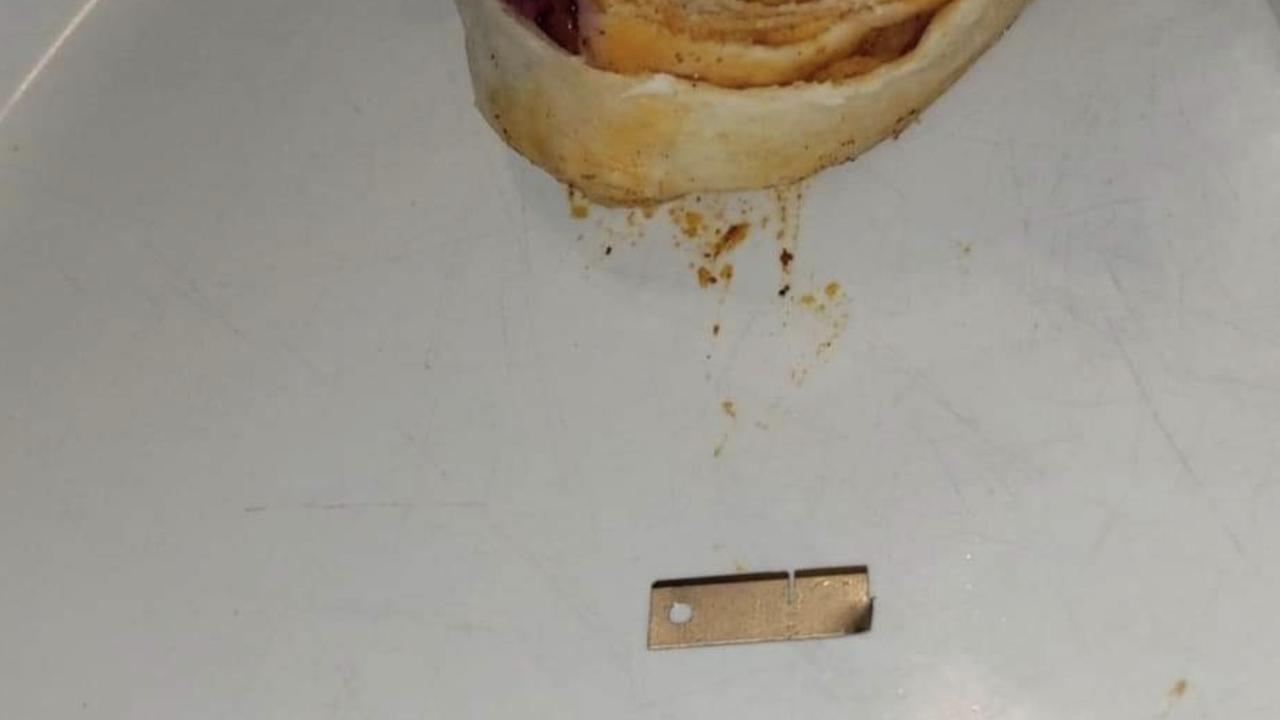 Allie Strange says she found a razor in her burrito. Pic: Supplied