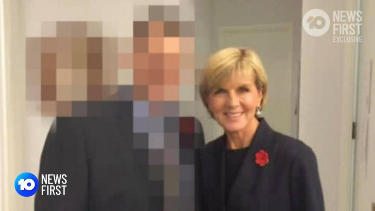 One of the staffers in question, pictured with former Foreign Affairs Minister Julie Bishop. Picture: 10 News
