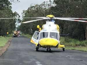 Three people flown to hospital after horrific head on crash