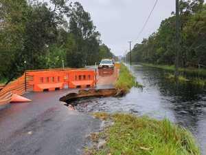 WATCH: Chaos as roads fall away to flood water