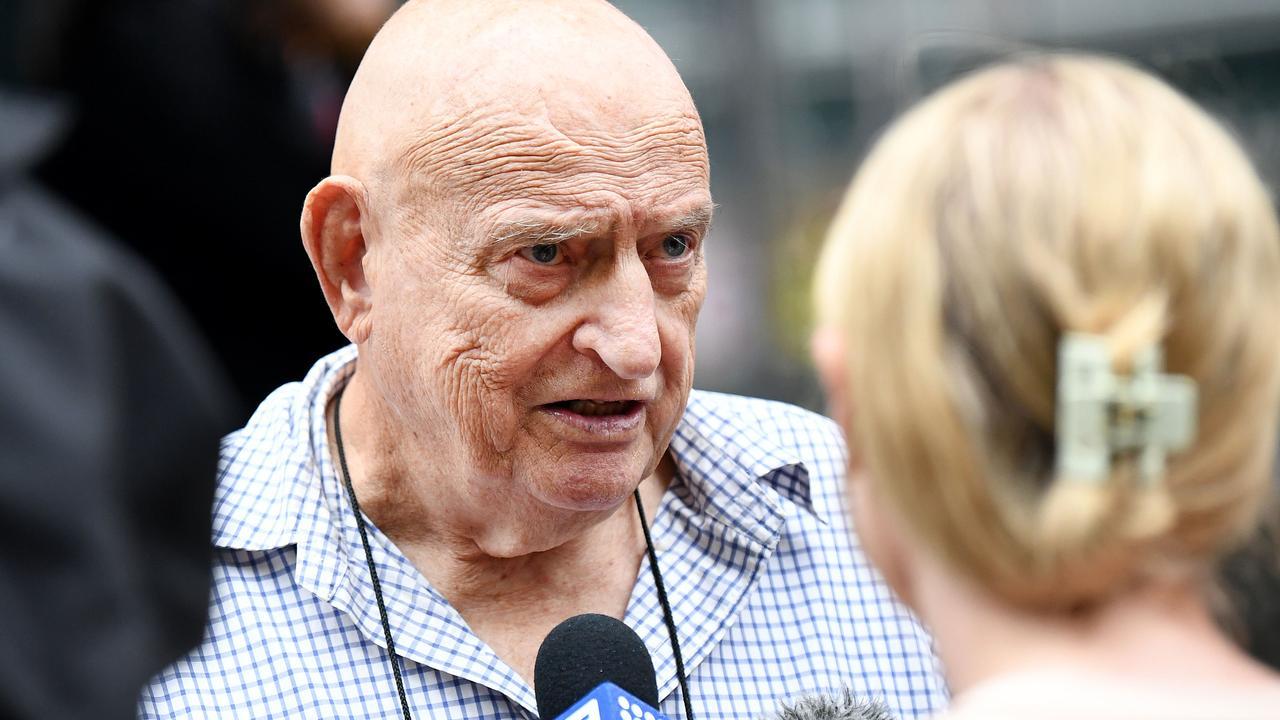 Former detective Bob Dallow outside the Coroner's Court in Brisbane. Picture: Dan Peled