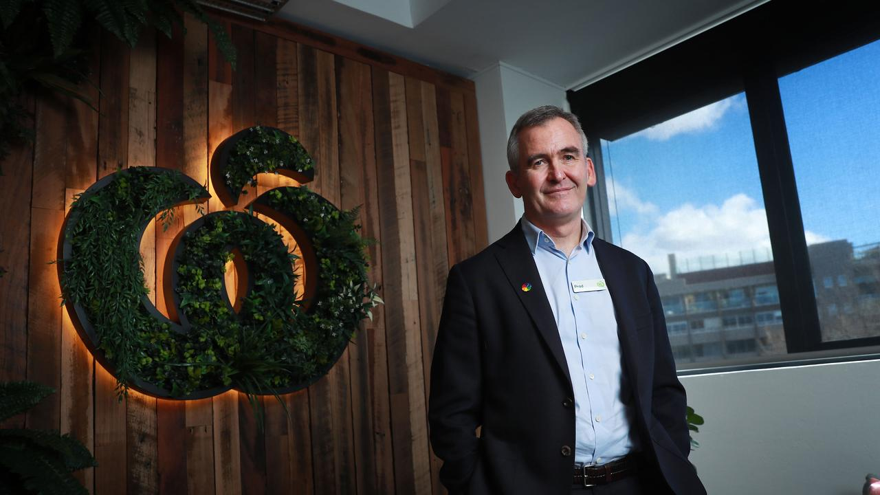 Woolworths chief executive Brad Banducci said the wild weather was causing delivery delays. Picture: John Feder/ The Australian