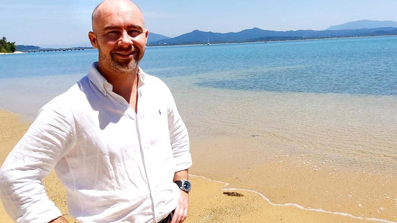Mayfair 101 founder James Mawhinney at Mission Beach in Queensland.