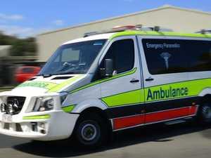 Man taken to hospital after hinterland truck crash