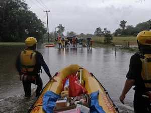 Volunteers help with flood rescues across the region