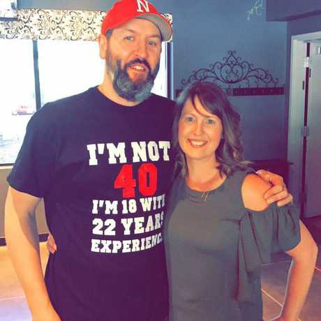 Mrs Sauser wanted to show the world who her husband was before illness and the pandemic changed him. Picture: Crystal Sauser
