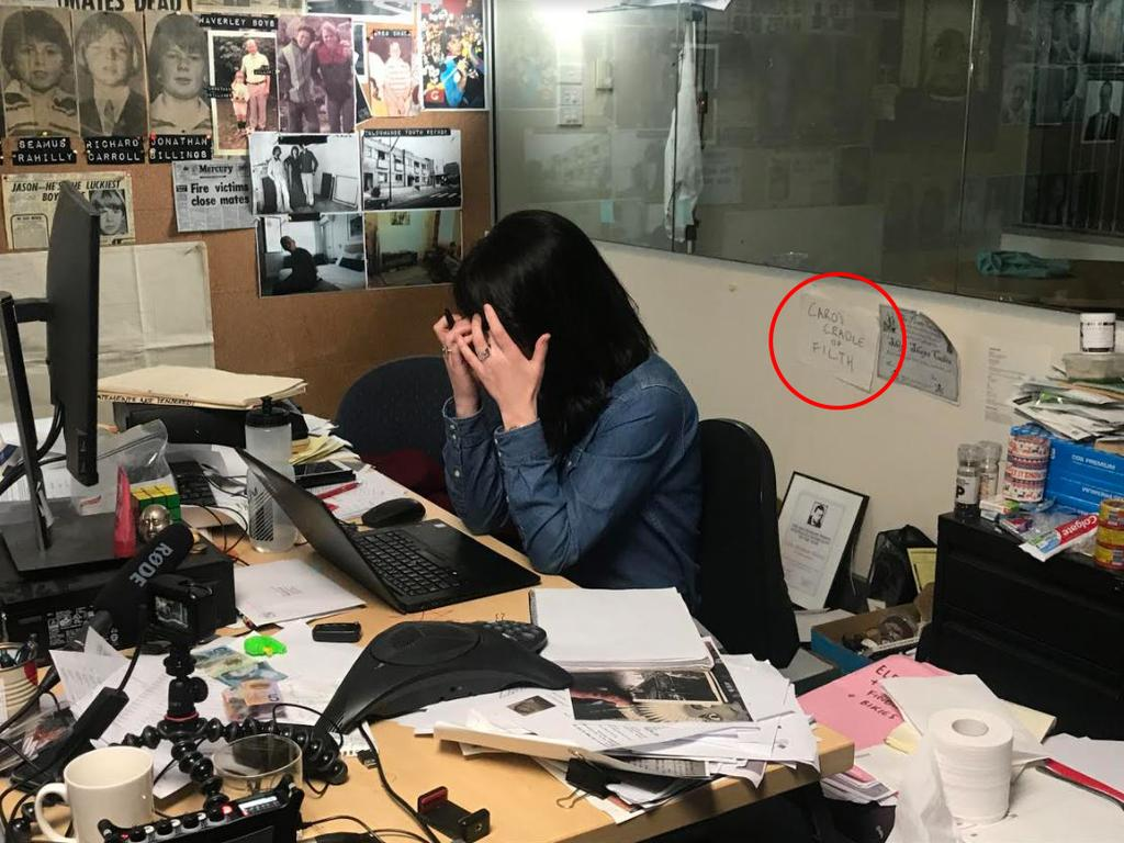 Caro's office looks like the inside of my mind.