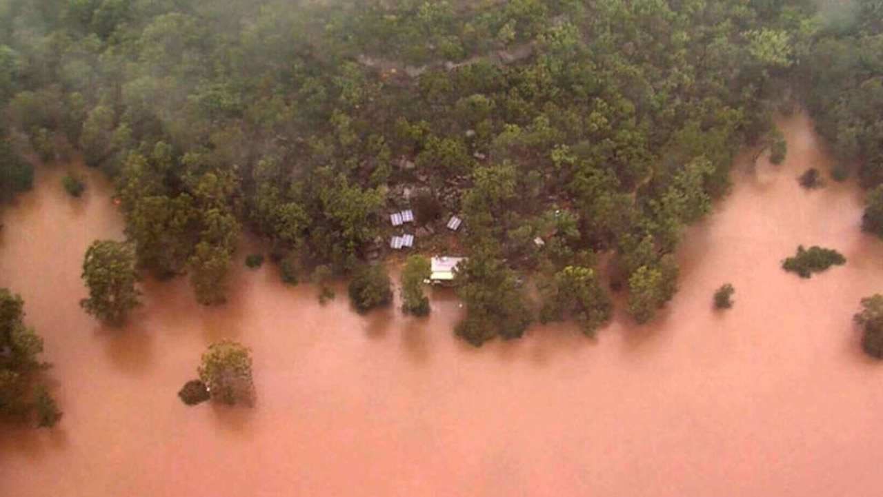The flooded Colo River. Picture: Nine News