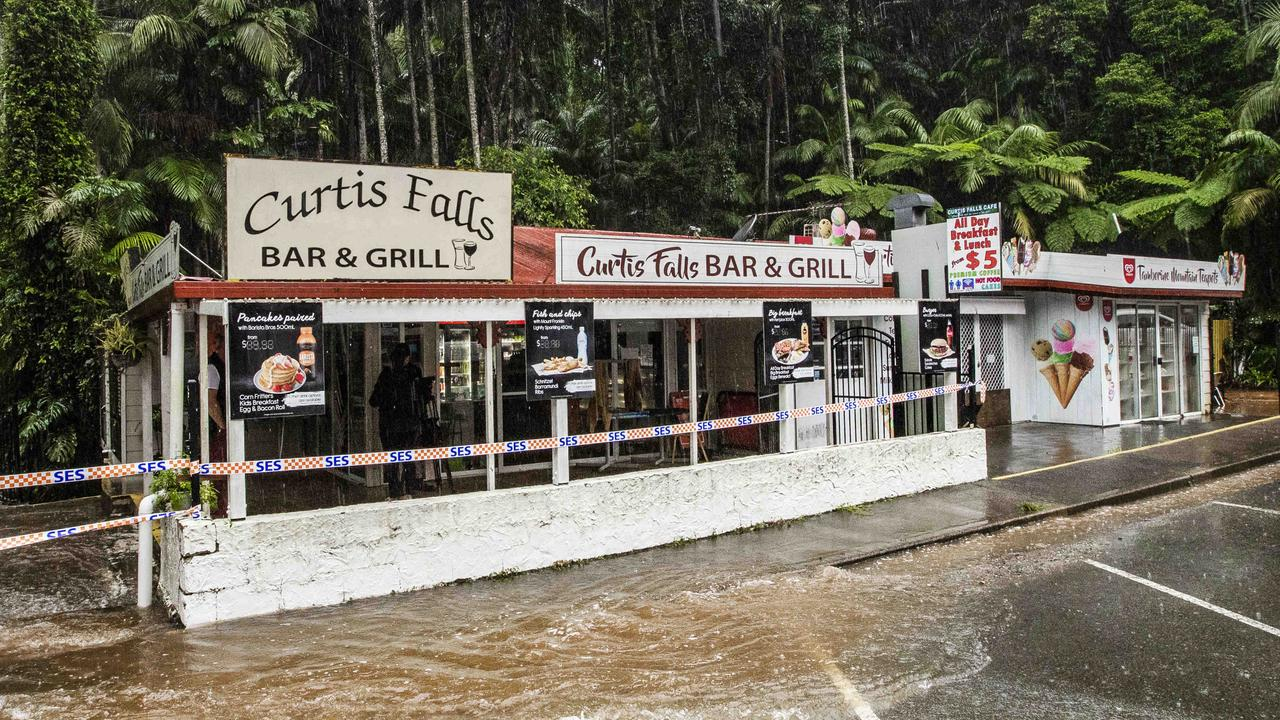 The Tamborine Mountain business is impacted by floodwaters during almost every heavy rain event. Picture: Nigel Hallett