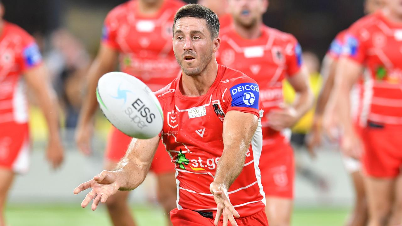 Ben Hunt was outstanding in the Dragons' win against the Cowboys in Townsville. Picture: Evan Morgan