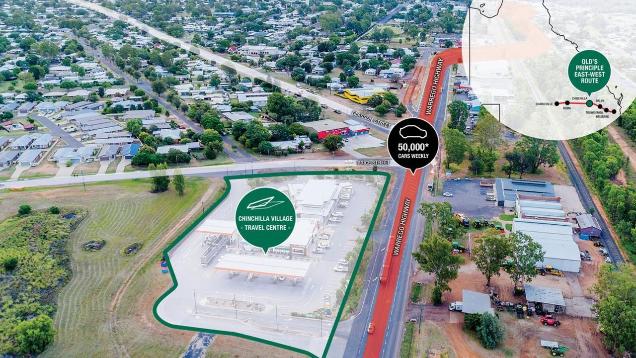The Chinchilla Village and Travel Centre has been listed for sale. Picture: Realcommercial.com.au