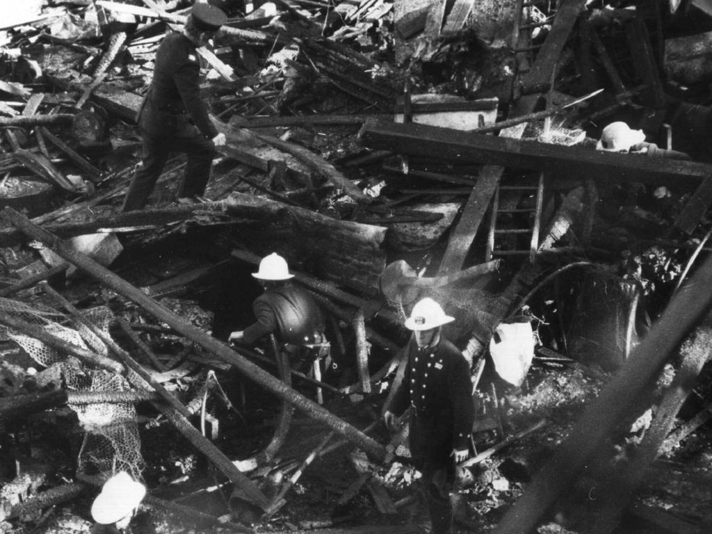 The aftermath of the fire. Picture: Fire Australia's First Century Historical