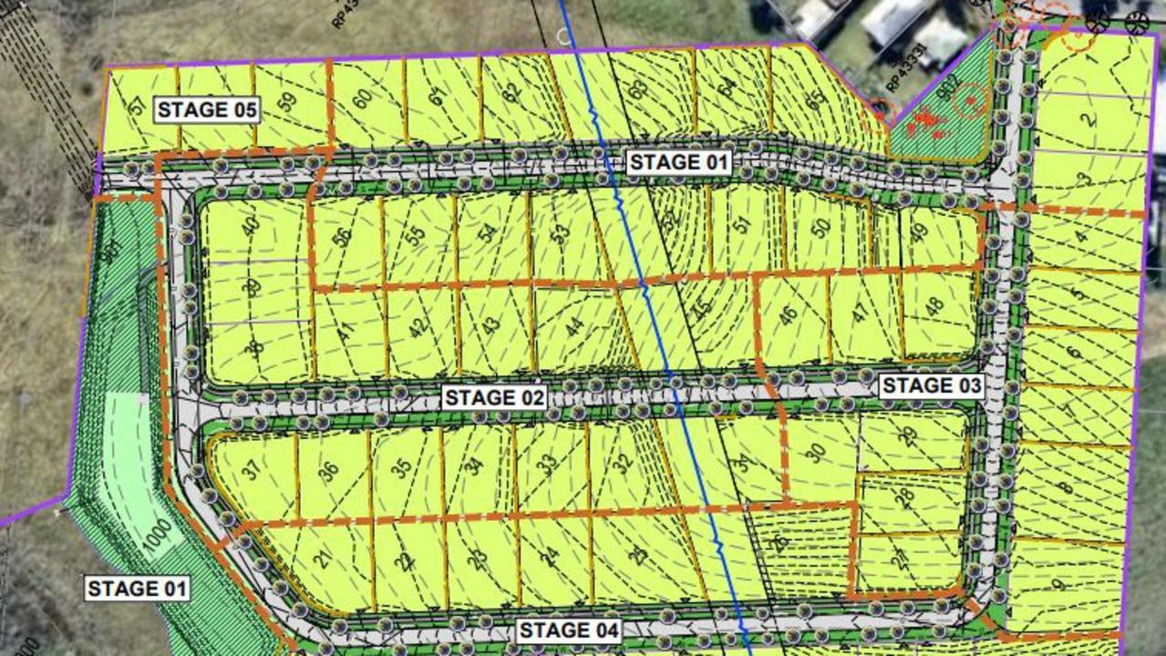 A proposal has been put to Sunshine Coast Council to turn three lots at Maleny into 65 residential lots and two park areas.