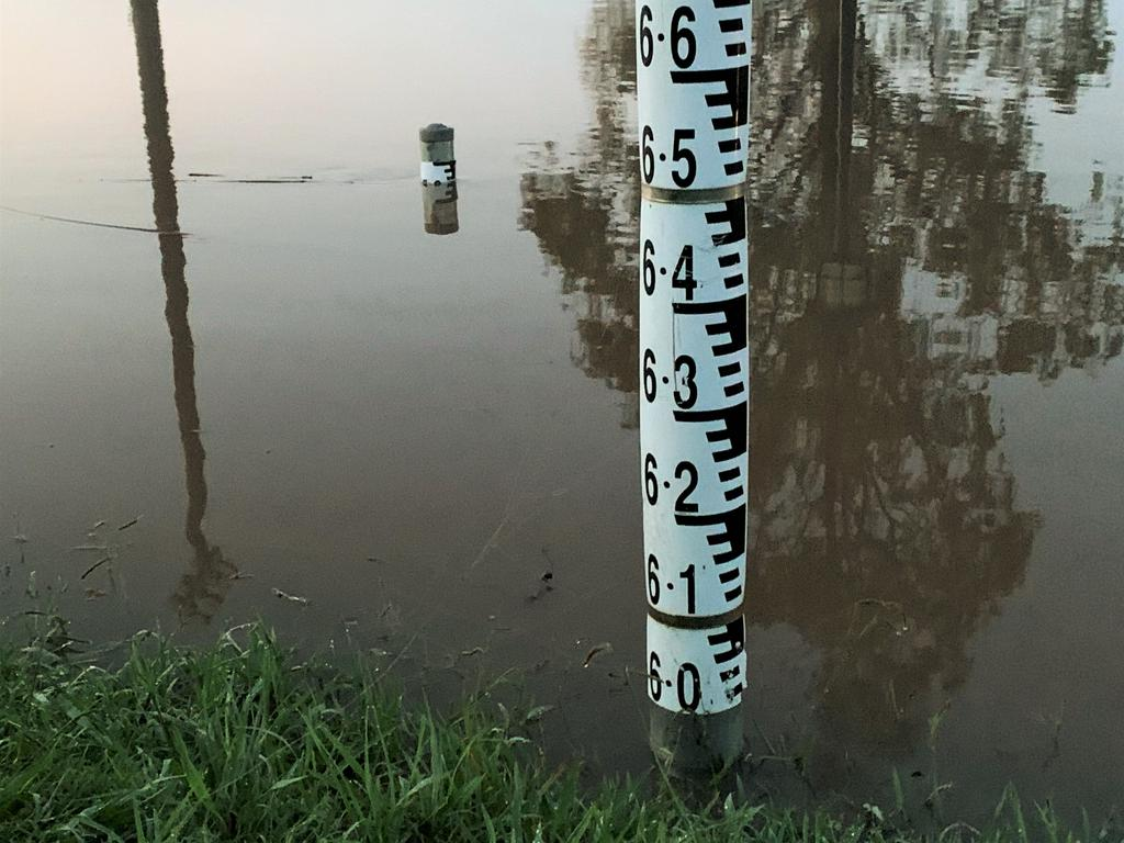 The Clarence River passed the major flood level of 5.4m and was approaching the 6m mark at Prince St, Grafton at 6.30am on Wednesday, 24th March, 2021.