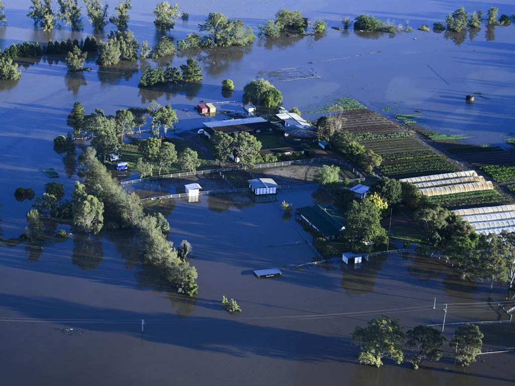 The rising waters of the Nepean river have devastated Windsor. Picture: Lukas Coch/Pool/AAP