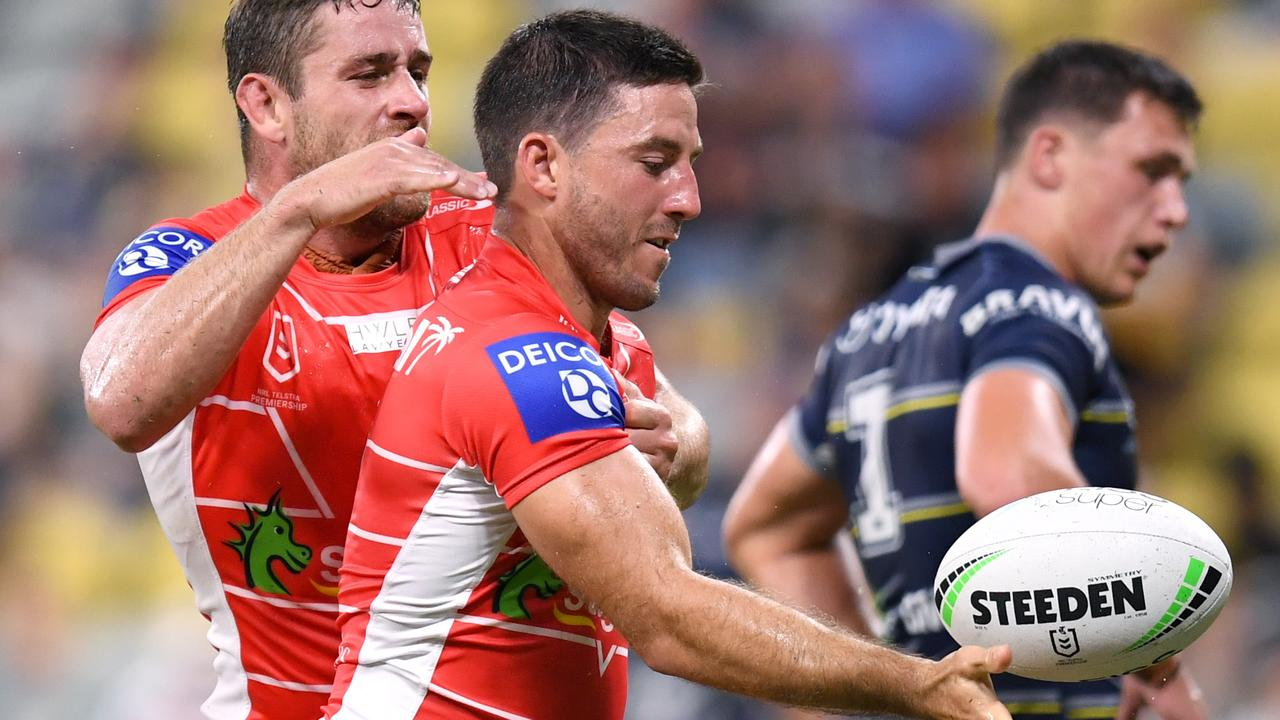 Ben Hunt was back to his best against the Cowboys. Picture: Scott Davis/NRL Photos