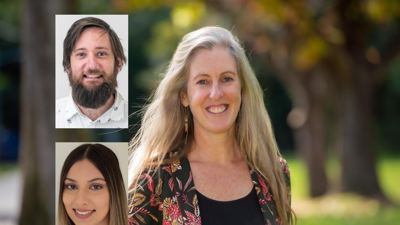 Coffs Coast Advocate journalists Tim Jarrett and Jasmine Minhas and editor Janine Watson.