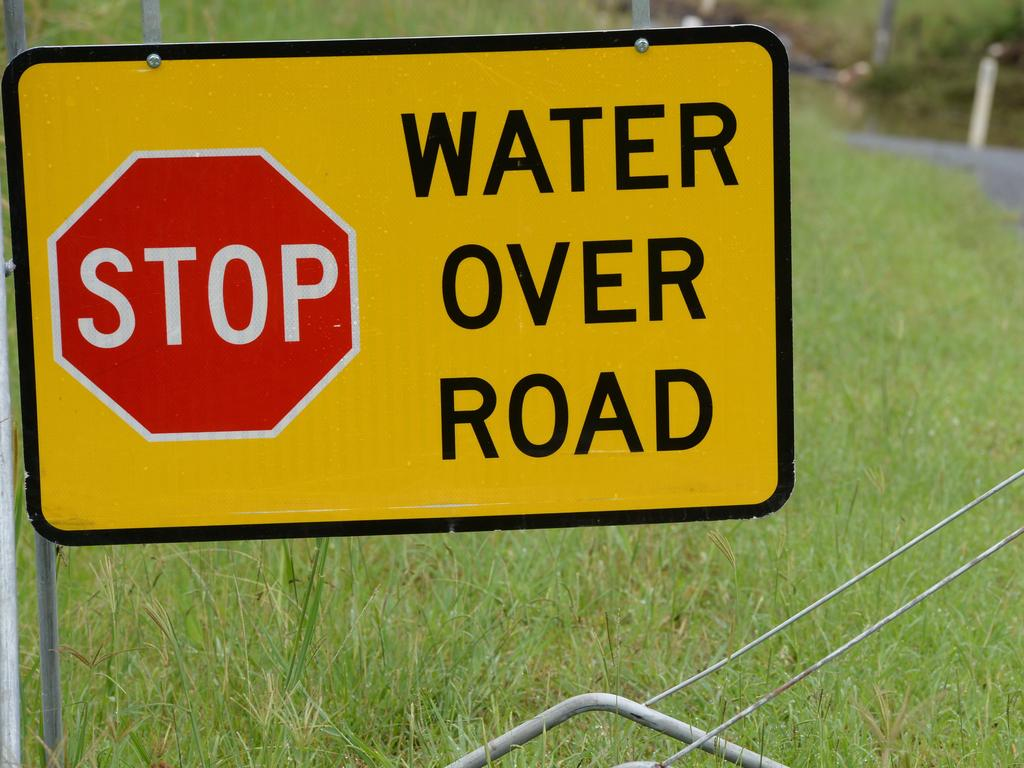 Find out which roads are closed due to flood waters.