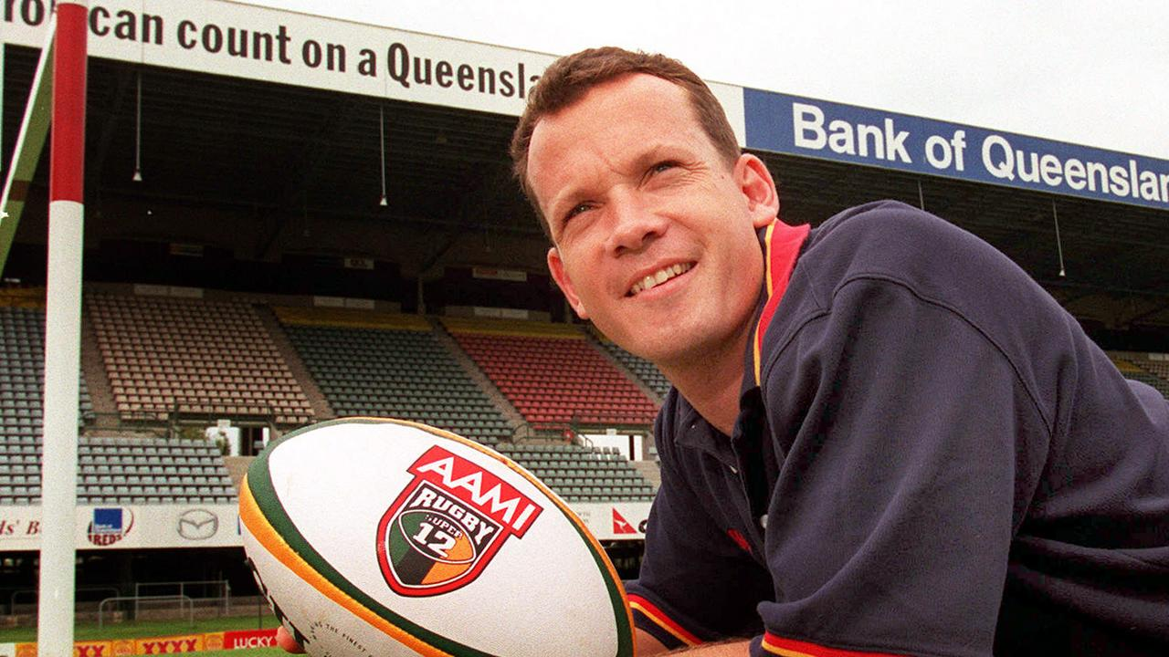 Rugby union player Damian Smith back in 2000.