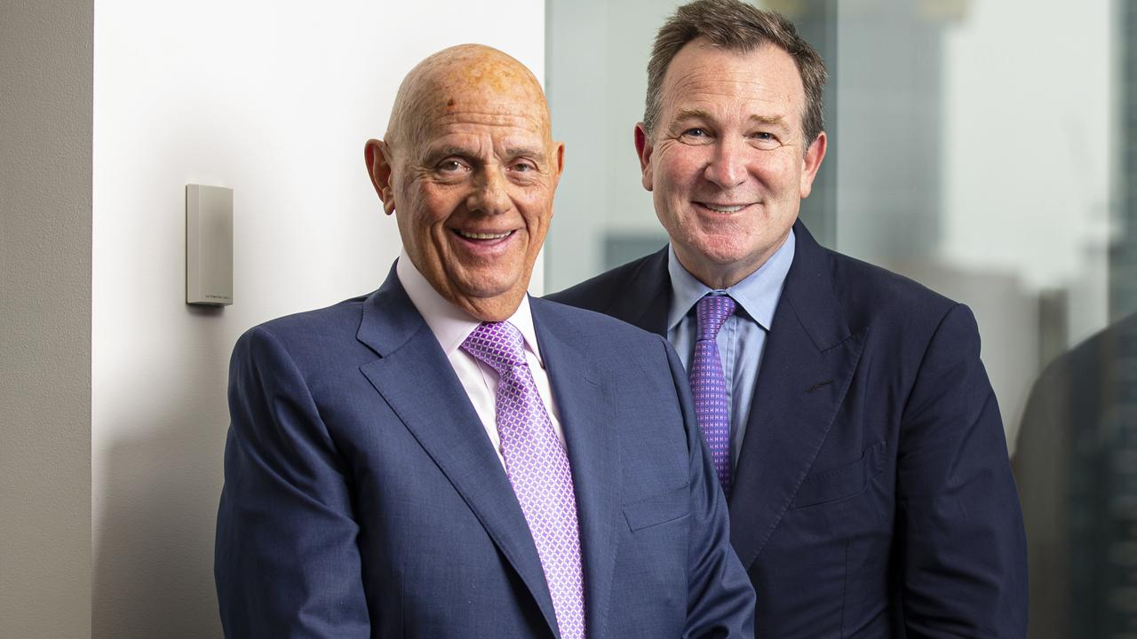 Premier Investments chair Solomon Lew (left) is an Australian billionaire who saw his wealth increase over the pandemic. Picture: NCA NewsWire/Daniel Pockett