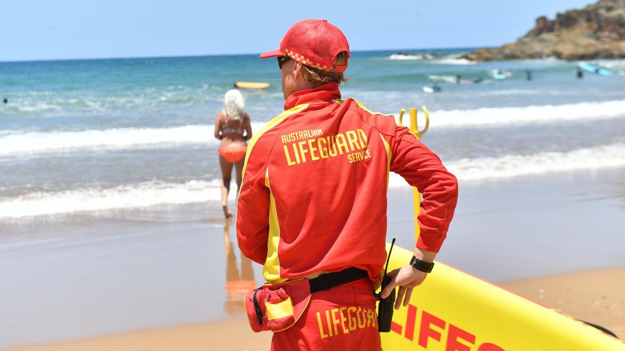 A life guard at Agnes Water Main Beach.