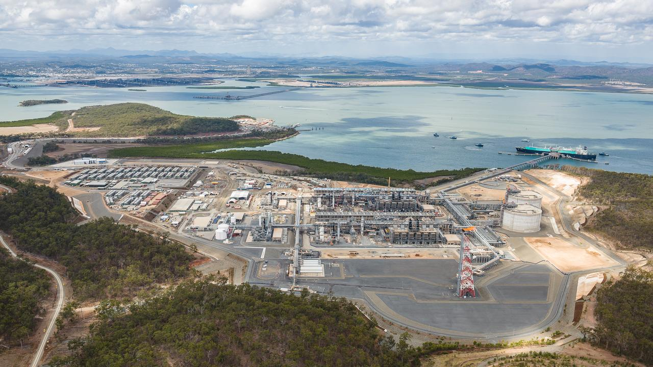 Liquefied Natural Gas ship Seri Bakti departs Santos' Gladstone LNG project on Queensland's Curtis Island.
