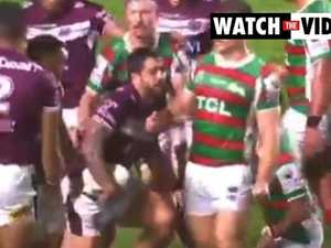 Manly star pulls teammate into line