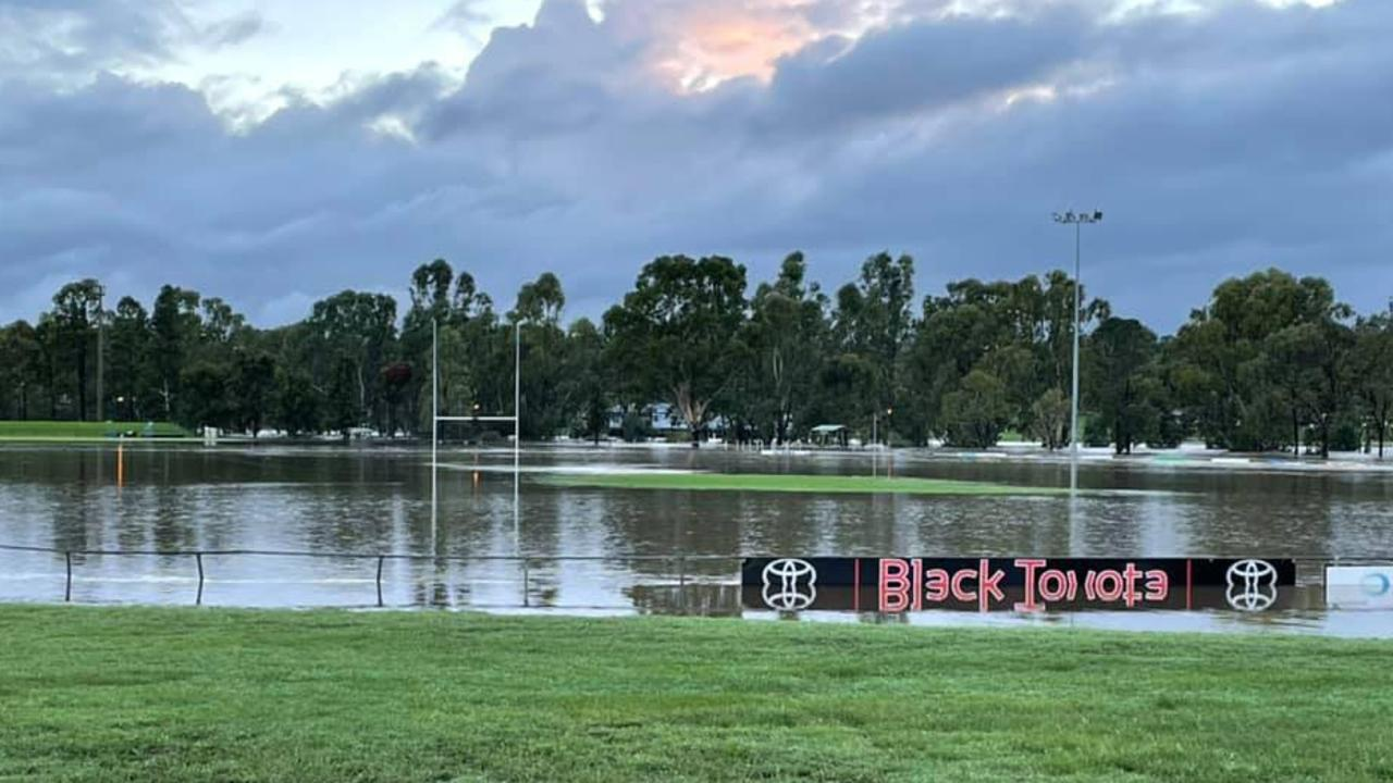 Flooding on Father Ranger Oval / Credit: Warwick Cowboys