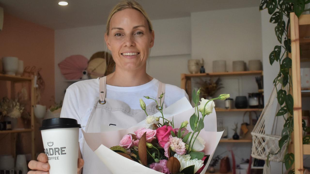 Laneway Noosa owner Deborah Phillips opened her florist and coffee shop late last year. Picture: Tegan Annett